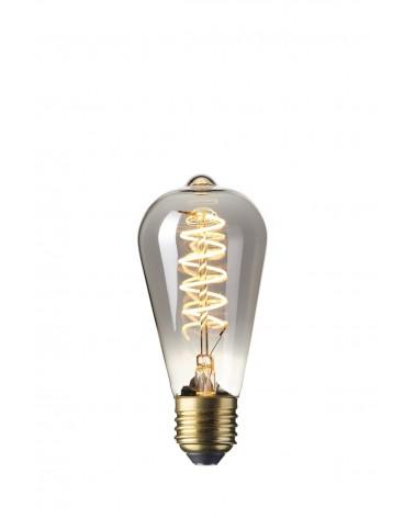 LED Dimbare Flex  Filament Rustieklamp 4W 100lm E27 Titanium