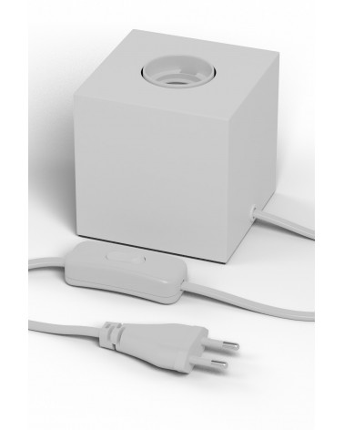 Calex matte white E27 fixture with switch and 1.8m cable