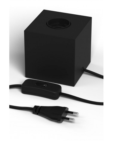 Calex black E27 fixture with switch and 1.8m cable
