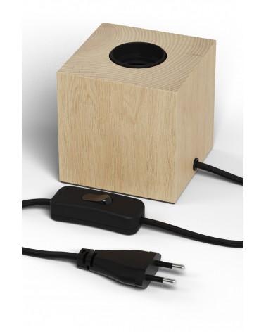 Calex houten tafelarmatuur E27 met schakelaar en 1.8m snoer