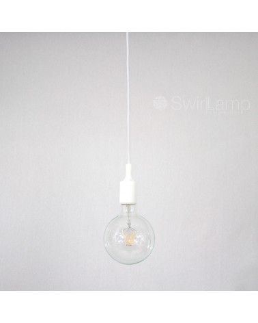 Hanglamp siliconen fitting E27 Wit