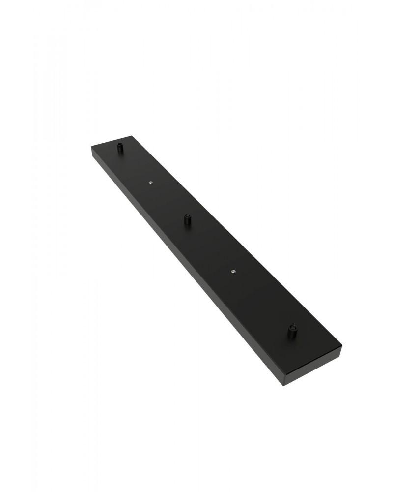 Calex metalen plafondbalk 70x10cm 3 gaats, mat zwart