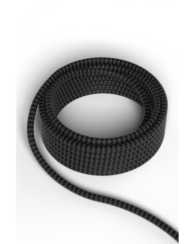 Strijkijzersnoer zwart/grijs 3 meter - Calex 1-2-3 systeem