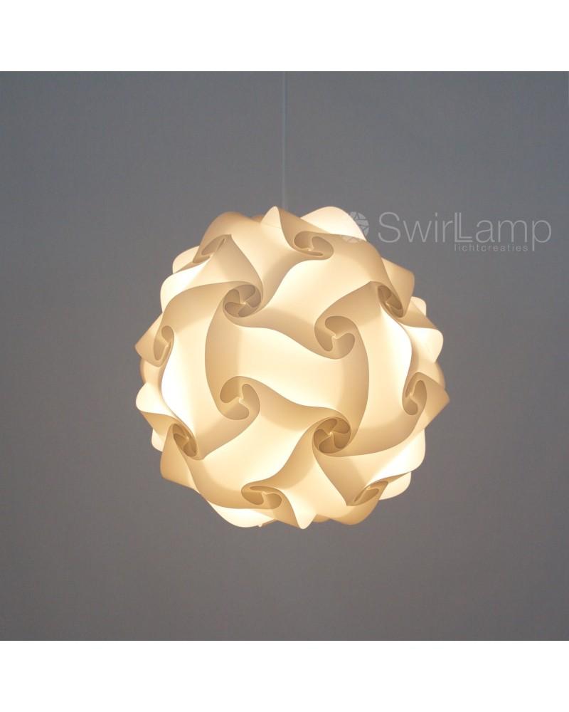 Swirlamp 30cm Witte lampenkap