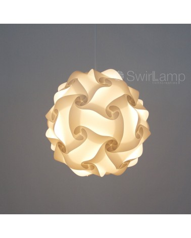 Swirlamp 42cm White lampshade