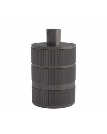 Calex lamphouder (E27 fitting) mat grijs - pearl black - 940424