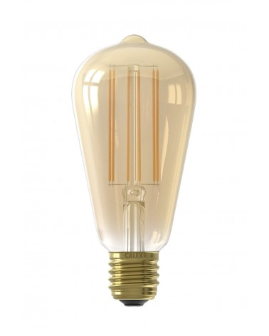 Calex LED langfilament Rustiek met schemersensor 400lm 4W 2100K warm wit