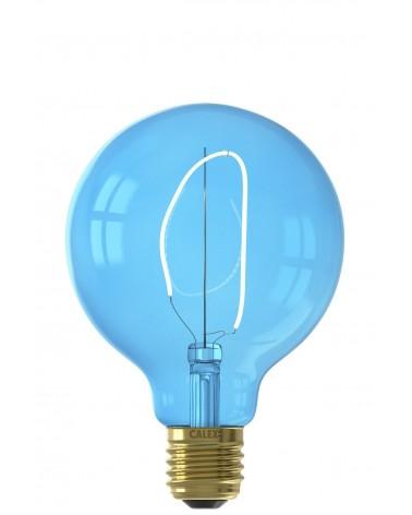 Calex Nora G95 Sapphire Blue LED lamp 4W 80lm 2700K Dimbaar | 426236