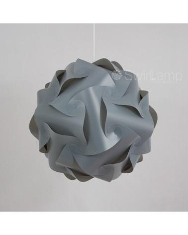 Swirlamp 42cm Grijs
