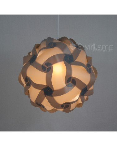 Swirlamp 42cm Grey lampshade