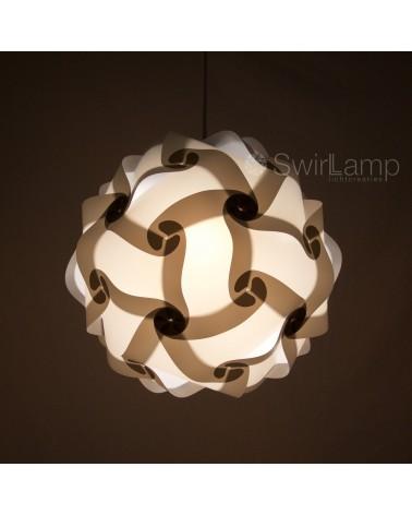 Swirlamp 42cm Grey