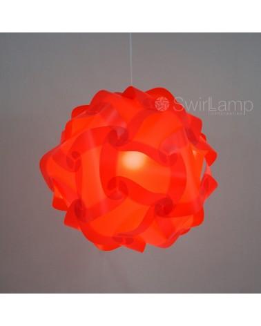 Swirlamp 42cm Rode lampenkap