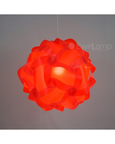 Swirlamp 42cm Red lampshade
