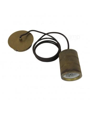 Antique Bronze E40 pendant...