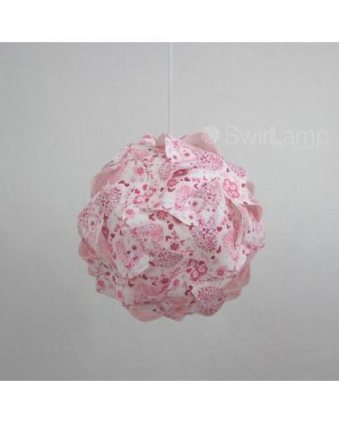 Swirlamp 30cm Pink Flowers